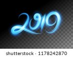 motion effect to 2019 happy new ... | Shutterstock .eps vector #1178242870