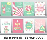 set of back to school card set  ... | Shutterstock .eps vector #1178249203