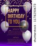 happy birthday vector... | Shutterstock .eps vector #1178250673