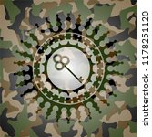 key icon inside camo emblem | Shutterstock .eps vector #1178251120