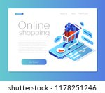 purchase in an online store... | Shutterstock .eps vector #1178251246