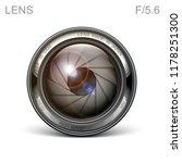 set camera lens object glass... | Shutterstock .eps vector #1178251300