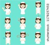nurse face expression  set of... | Shutterstock .eps vector #1178257453