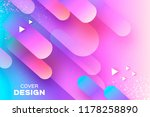 holographic geometry background.... | Shutterstock .eps vector #1178258890