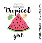 watermelon printed graphic... | Shutterstock .eps vector #1178261293
