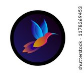 colorful hummingbird sign.... | Shutterstock .eps vector #1178269453