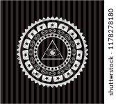 illuminati pyramid icon inside...   Shutterstock .eps vector #1178278180