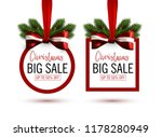 set of christmas sale stickers...
