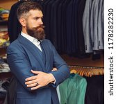 handsome bearded fashion man in ... | Shutterstock . vector #1178282230