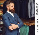handsome bearded fashion man in ... | Shutterstock . vector #1178282230