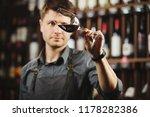 bokal of red wine on background ...   Shutterstock . vector #1178282386