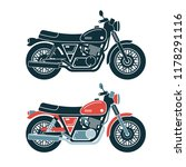 a classic retro motorcycle.... | Shutterstock .eps vector #1178291116