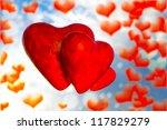 three red hearts | Shutterstock . vector #117829279