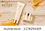 honey skin care ads with golden ... | Shutterstock .eps vector #1178296309