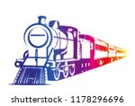 old train vector | Shutterstock .eps vector #1178296696