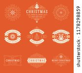 christmas labels and badges... | Shutterstock .eps vector #1178298859