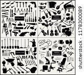a set of construction  music ... | Shutterstock .eps vector #1178300089