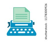 typewriter machine icon   type... | Shutterstock .eps vector #1178300926