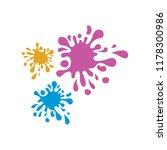 paint splash icon  ink splatter ... | Shutterstock .eps vector #1178300986