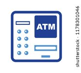 atm bank machine with credit... | Shutterstock .eps vector #1178301046