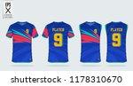 blue gradient t shirt sport... | Shutterstock .eps vector #1178310670