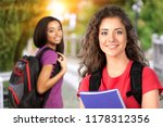 beautiful female student in... | Shutterstock . vector #1178312356