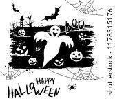 happy halloween template for... | Shutterstock .eps vector #1178315176