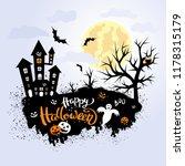 happy halloween template for... | Shutterstock .eps vector #1178315179