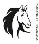 Stock vector horse head illustration 1178319049