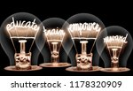 photo of light bulbs with... | Shutterstock . vector #1178320909