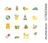 child toys color icons set for...