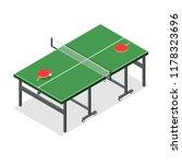green wooden table tennis game...   Shutterstock . vector #1178323696