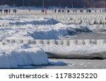 winter attack on the sea shore  ...   Shutterstock . vector #1178325220