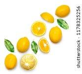 fresh delicious lemon isolated... | Shutterstock . vector #1178325256