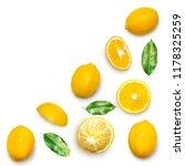 fresh delicious lemon isolated... | Shutterstock . vector #1178325259