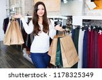 young happy cheerful  woman... | Shutterstock . vector #1178325349