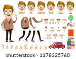 school teacher character... | Shutterstock .eps vector #1178325760