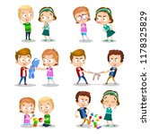 good and bad behavior of a... | Shutterstock .eps vector #1178325829