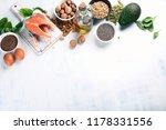 foods highest in omega 3 fatty...   Shutterstock . vector #1178331556