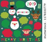 christmas characters and speech ... | Shutterstock .eps vector #1178333779