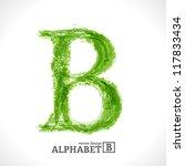 grunge vector letter. green eco ... | Shutterstock .eps vector #117833434