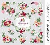 vector illustration of floral...   Shutterstock .eps vector #1178335483