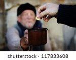 begging hands | Shutterstock . vector #117833608