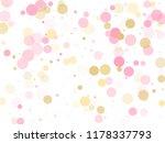 rose gold confetti circle... | Shutterstock .eps vector #1178337793