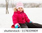 childhood  sledging and season... | Shutterstock . vector #1178339809