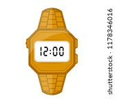 isolated digital wristwatch icon | Shutterstock .eps vector #1178346016
