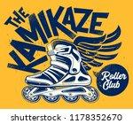 kamikaze rolling club grunge... | Shutterstock .eps vector #1178352670