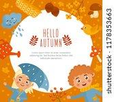 hello autumn  fall greeting... | Shutterstock .eps vector #1178353663