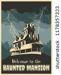 Welcome to the Haunted Mansion. Halloween Poster