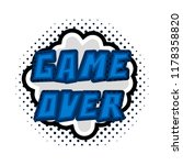 game over concept image | Shutterstock .eps vector #1178358820